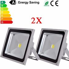 2x 50W LED Flood light Cool White Outdoor Landscape 95-260V Lamp Waterproof IP65