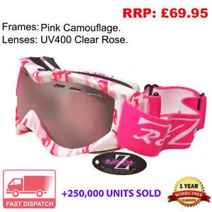 Rayzor Camo Ski Snowboard Goggles 100% UV400 Antifog Double Lens CAGPRO RRP£69