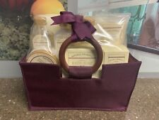Vanilla Coconut Canvas Gift Bag Set Body Scrub Soap Lotion Salts Gel & Cream