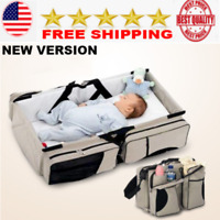 Portable Folding Baby Travel Crib Bed boy girl diaper bag  infant bags backpak