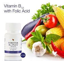 Forever B12 PLUS with Folic Acid 60 tablets HALAL / KOSHER EXP 08/2020