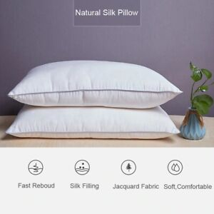 Mulberry Bedding Pillow Natural Silk Pure Luxury Soft Health Care