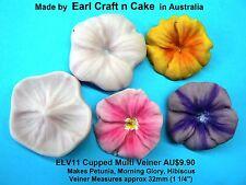 Shaped Multi Veiner Petunia Morning Glory Hibiscus Cake Decorating Sugar Flower