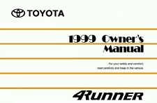 1999 Toyota 4Runner Owners Manual User Guide Reference Operator Book Fuses