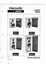 BOSE  Interaudio Alpha Series  service manual original