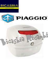 9420 - BAULETTO POSTERIORE 32 LT BIANCO DIAMANT 525 VESPA 50 125 150 LX