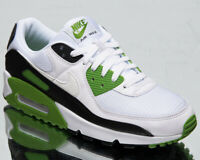 Nike Air Max 90 Men's White Chlorophyll Black Casual Lifestyle Sneakers Shoes