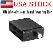 Nobsound 100W Mini Subwoofer Power Amplifier Mono Channel Audio HiFi Amp Black