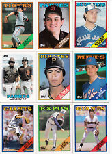 1988 Topps Baseball Cards  lot of 9