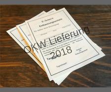 Reproduction WW2 German E-Schein Delousing Document Card