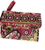 Vera Bradley Euro Wallet Very Berry Paisley Trifold Compact Retired