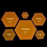 """Acrylic Template """"Hexagon"""" for English Paper Piecing Fabric Cutting"""
