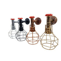 E27 Rustic Water Pipe Wall Light Porch Lamp Steampunk Vintage Industrial Sconce