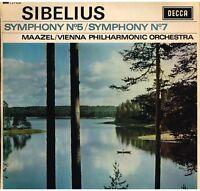 Sibelius:Sinfonie N.5 & 7 / Lorin Maazel, Wiener Philharmoniker - LP Decca LXT