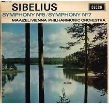 Sibelius: Sinfonie N. 5 & 7 / Lorin Maazel, Wiener Philharmonic - LP Decca LXT