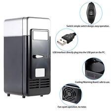 Mini USB LED  Refrigerator Fridge Beverage Drink Cans Cooler Warmer Sliver O8O4