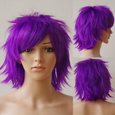 UK Stock Women Anime Short Wig Cosplay Party Costume Heat Resistant Dress YF4