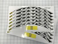 Mavic Cosmic Elite UST 30mm+Wheel Decals/Stickers for 30mm rim WHITE set of 12