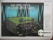 1/84 PUB THOMSON-CSF TELECOMMUNICATION RADIO TRC950 ELECTRONIC WARFARE AD
