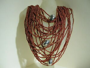 Red Carnelion seed beaded 30 strands 30 inches with Sterling beads