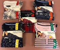NEW!! Nautica Women's Two Piece Microfleece Sleepwear Packs Variety
