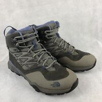 The North Face Hedgehog Mid Gortex Womens 10.5 Gray Hiking Trail Boots