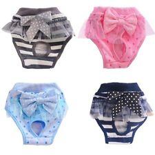 Pet Sanitary Physiological Pants Dog Diaper Washable Female Dog Shorts Panties M