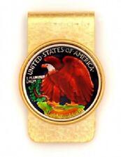 Walking Liberty Half Dollar Hand Painted Stylish Money Clip Free Shipping + Box