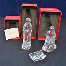 Baccarat Crystal Holy Family Nativity Set Mary, Joseph & baby Jesus w boxes RARE