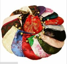 Wholesale 30 pcs Chinese satin pouch Embroidered Silk Purse Gift Bag SL006