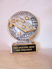 CORNHOLE RESIN TROPHY CORNHOLE/BEAN BAG TOSS TROPHY AWARD - FREE ENGRAVING!!!!
