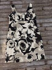 New York and Company Black Print Womens  Wrap Dress Size 12 $69 Stretch NWT