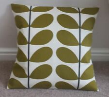 """Orla Kiely deux couleur tige Housse de Coussin en Olive 17 X 17"""" Handmade"""