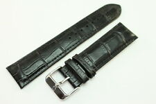 Original SWISS MILITARY Uhrenarmband 22mm Kalbsleder mit Alligator-Narbung
