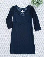 Womens Free People Dress Size Medium Black Illusion Lace Stretch Formal