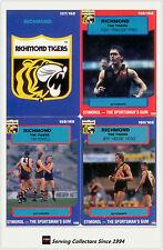 1990 Stimorol AFL Trading Cards Club Team Set Richmond (11)