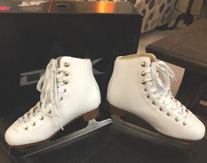 DBX Motion Girls White Figure Skates Size 3