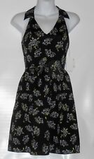 Mac+Jac Ladies Racerback Floral Dress Black Combo Small (S) NWT