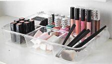 Acrílico Transparente Maquillaje Organizador de Cosméticos Caja Bandeja de almacenamiento de información pantalla caso de joyas