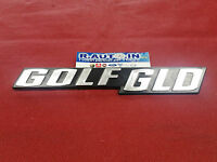 "TARGHETTA EMBLEM Badge fregio ""GOLF GLD"""
