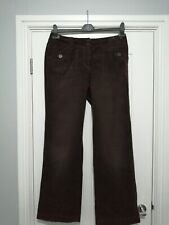 Next Brown Corduroy Trousers Size 10 Regular