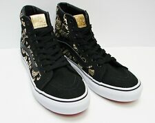 0894c64237 Vans SK8 Hi Slim 50th Duke Black Gold Foil VN-00018IJ7B Women s Size  6
