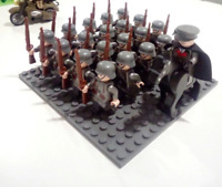 22 Pcs WW2 Army Character Italian UK US Minifig Soldiers Officer Weapons Lego MO