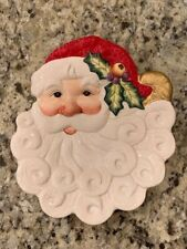 Vintage Fitz and Floyd Essentials Christmas Santa Plate Noel Classique Holiday