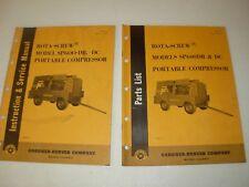 Gardner Denver SP600DB & DC Rota-Screw Air Compressor Parts & Service Manuals
