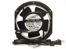 172mm 52mm New Case Fan 110V 115V 120V AC 210CFM 2 Pin Ball Cooling 170mm 270*