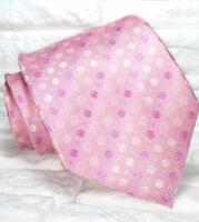 Cravatta rosa pois TOP Quality NOVITÀ Made in Italy marchio 100% seta Tre marca