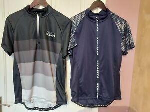 2 Pcs Crivit Biking Short Sleeve Top. Size L.