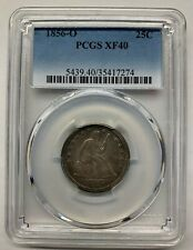 1856 O Quarter, Old Silver Collector, Liberty Seated, 25 Cents, 25C PCGS XF 40