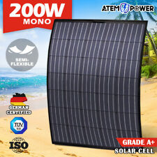200W 12V Flexible Solar Panel Mono Caravan Boat Camping Battery Power Charging